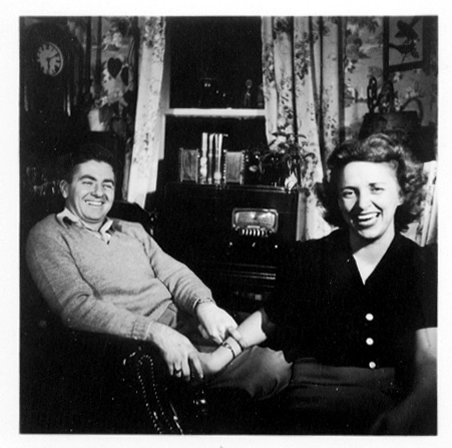 Just engaged, Pembroke VA, 1947